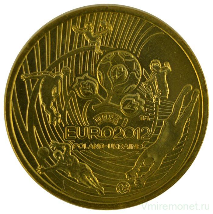 2 злотых 2012 на золоте черные пятна