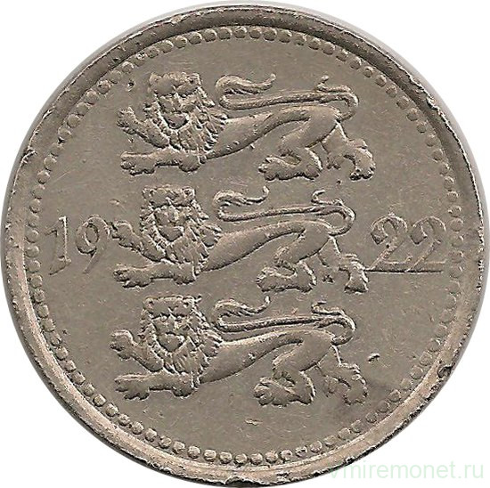 Монета эстонии 5 марок 1922 монета 2 грузинских лари 2006 года стоимость