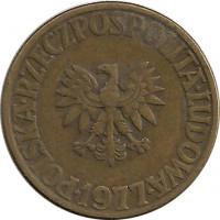 Стоимость монеты польша 5 злот 1977 год 1 рубль 1947 года цена бумажный