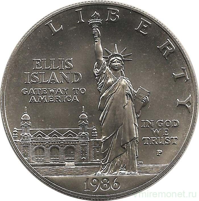 Сша 1 доллар, 1986 100 лет статуе свободы fut 16 монеты