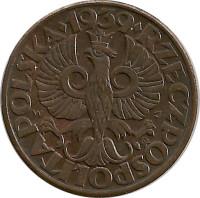 Польша 5 грошей, 1965 копейка туниса