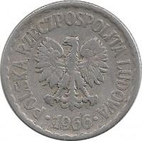 Стоимость монеты польша 1 злотый 1966 года старые карты воронежской губернии