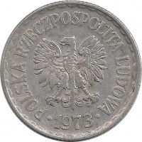 Сколько стоит польская монета 1973 альбом монет 50 лет вов